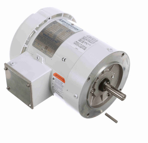 3/4 hp 1800 RPM 3-Phase  56C Frame TEFC (no base) 208-230/460V Marathon Motor # N669