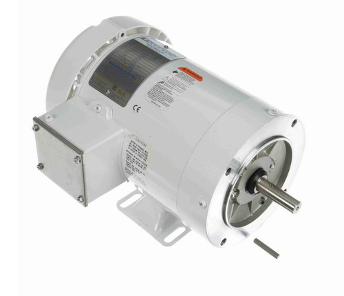 N627A Marathon 1 hp 1800 RPM 3-Phase 56C Frame TEFC (with base) 575V Marathon Motor