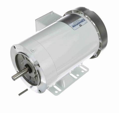 N604A Marathon 1 hp 1200 RPM 3-Phase  56C Frame TEFC (with base) 230/460V Marathon Motor