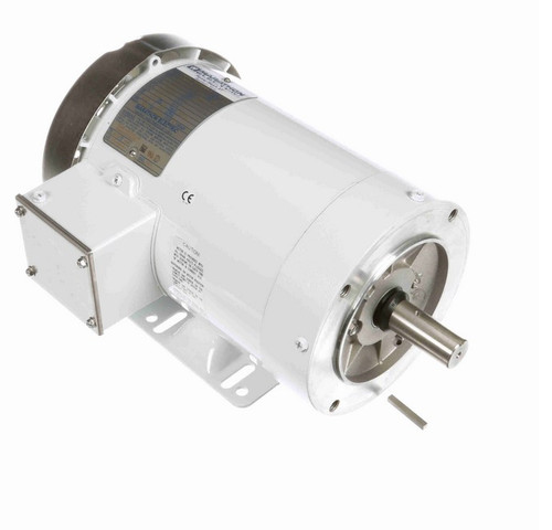 N607A Marathon 1 1/2 hp 1800 RPM 3-Phase  145TC Frame TEFC (with base) 208-230/460V Marathon Motor