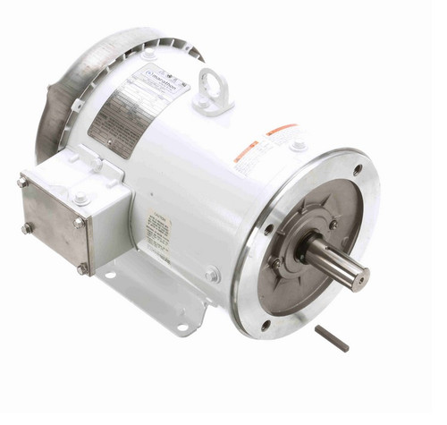 N608A Marathon 1 1/2 hp 1200 RPM 3-Phase 56C Frame TEFC (with base) 230/460V Marathon Motor