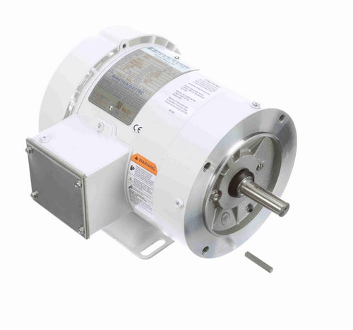 N631 Marathon 1/3 hp 3600 RPM 3-Phase  56C Frame TEFC (with base) 208-230/460V Marathon Motor