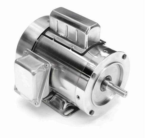 N343 Marathon 3/4 hp 1800 RPM 1-Phase  56C Frame TEFC (rigid base) 115/230V Marathon Motor