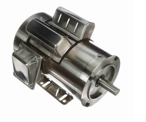 2 hp 3600 RPM 1-Phase  145TC Frame TEFC (rigid base) 115/230V Marathon Motor # N348