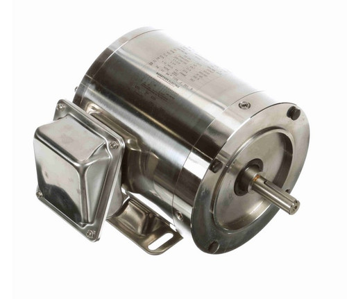 1/3 hp 3600 RPM 3-Phase  56C Frame TENV (rigid base) 208-230/460V Marathon Motor # N450