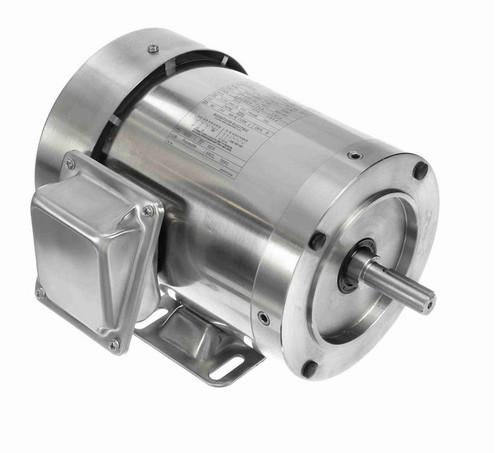 N453 Marathon 1 hp 3600 RPM 3-Phase 56C Frame TEFC (rigid base) 208-230/460V Marathon Motor