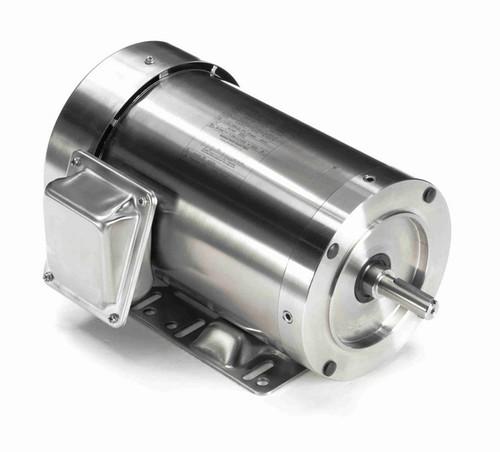 N419A Marathon 1 hp 1800 RPM 3-Phase  56C Frame TEFC (rigid base) 208-230/460V Marathon Motor