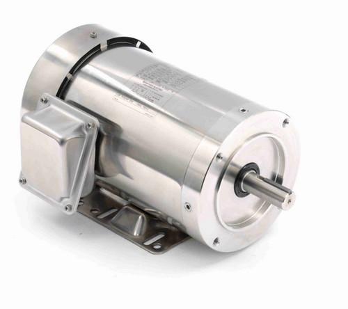1 hp 1800 RPM 3-Phase 143TC Frame TEFC (rigid base) 230/460V Marathon Motor # N414A