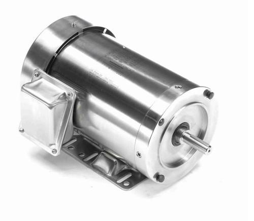 N457A Marathon 2 hp 3600 RPM 3-Phase 56C Frame TEFC (rigid base) 208-230/460V Marathon Motor