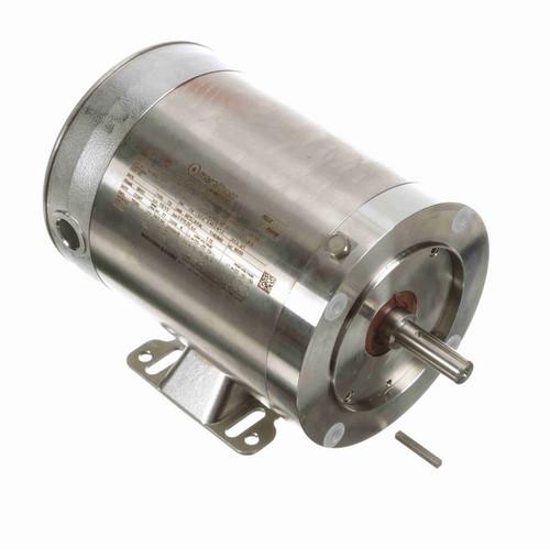 N180A Marathon 1/2 hp 1200 RPM 3-Phase  56C Frame TENV (rigid base) 208-230/460V Marathon Motor