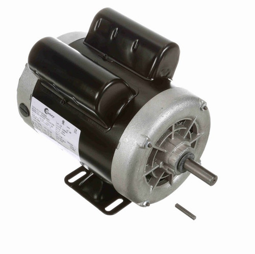 B702ES Century 1 hp 3600 RPM 1-Phase 56 Frame ODP (rigid base) 115/230V