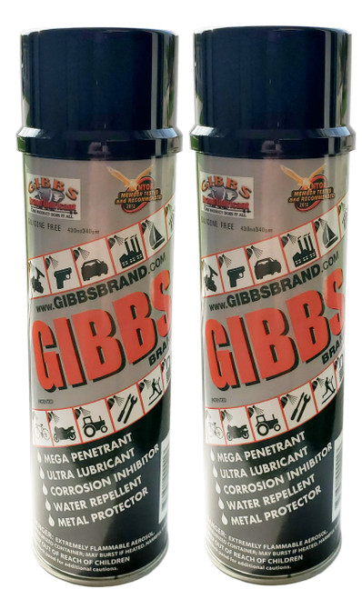 GIBBS Brand Lubricant (2 PACK) of 12-oz cans
