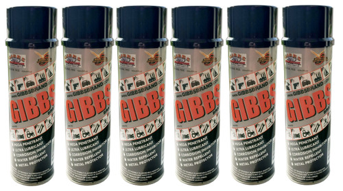 GIBBS Brand Lubricant (6 PACK) of 12-oz cans