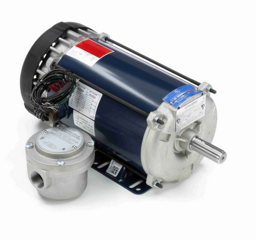 1 hp 1800 RPM 3-Phase 143T Frame TEFC (rigid base) 230/460V Marathon Motor # I502