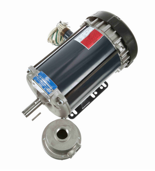1 1/2 hp 3600 RPM 3-Phase 143T Frame TEFC (rigid base) 230/460V Marathon Motor # I506