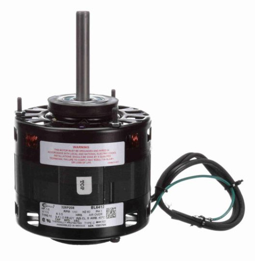 "1/6 hp 1050 RPM CW 5"" Diameter 115V Direct Drive Furnace Motor Century # BL6412"