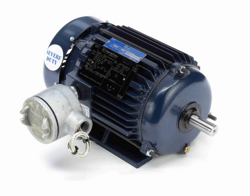 1 hp 1800 RPM 3-Phase 143T Frame TEFC (rigid base) 575V Marathon Motor # U020A