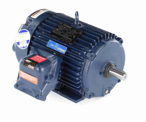 U990-P Marathon 5 hp 1800 RPM 3-Phase 184T Frame TEFC (rigid base) 230/460V Marathon Motor