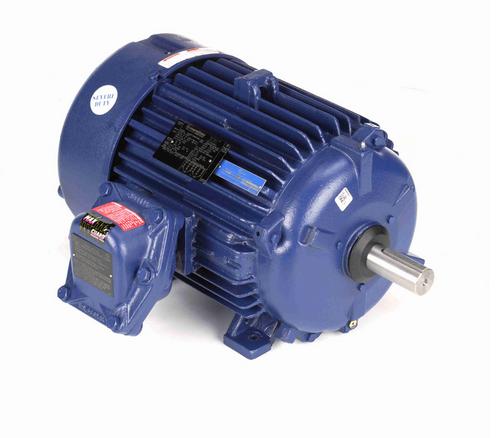 10 hp 1200 RPM 3-Phase 256T Frame TEFC (rigid base) 230/460V Marathon Motor # E501