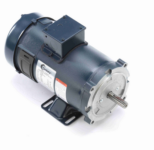 DC165 Century 1 hp DC Perm. Magnet 56C Frame C Face TEFC 2500 RPM (rigid base) 90V Marathon Motor # DC165