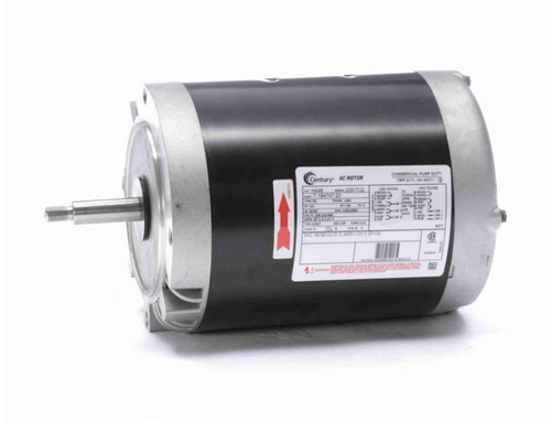 H446 Century 3/4 hp 3600/2850 RPM 3-Phase 56J Frame ODP (no base) 208-230/460V Century Pump Motor # H446