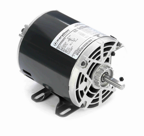 H712 Marathon 1/3 hp Carbonator Motor, double shaft, 1800 RPM 100-120/200-240V, 48Y ODP Frame (rigid base)