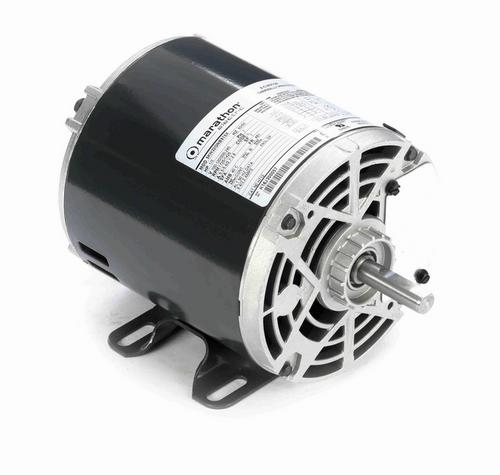 H712 Marathon 1/3 hp Carbonator Motor, double shaft, 1800 RPM 100-120/200-240V, 48Y ODP Frame (rigid base)