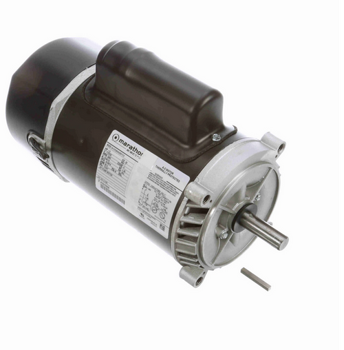 C1085 Marathon 1 1/2  hp 2-Compartment Jet Pump Motor 3600 RPM 115/230V ODP 56C Frame (no base)