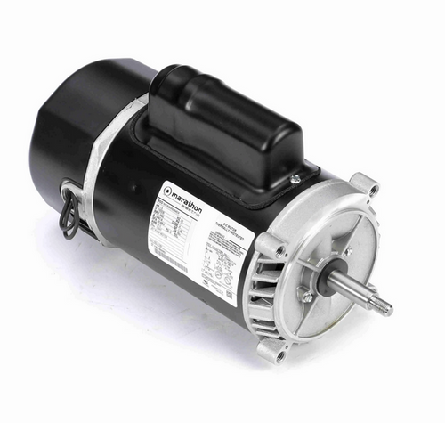 C1091 Marathon 1 1/2 hp 2-Compartment Jet Pump Motor 3600 RPM 115/230V ODP 56J Frame (no base)