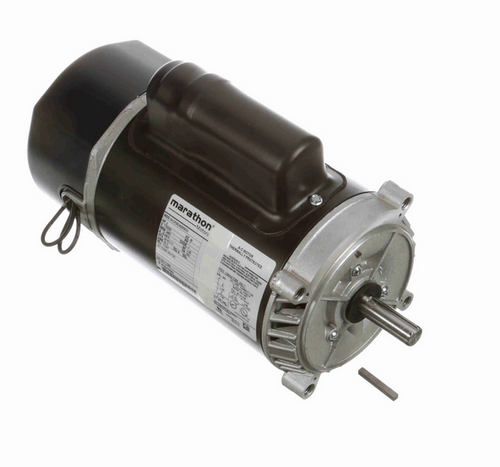 C1086 Marathon 2 hp 2-Compartment Jet Pump Motor 3600 RPM 115/230V ODP 56C Frame (no base)