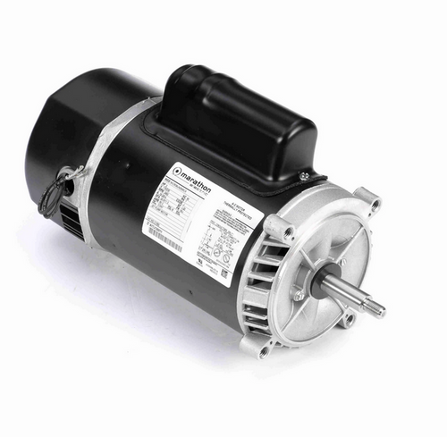 C1092 Marathon 2 hp 2-Compartment Jet Pump Motor 3600 RPM 115/230V ODP 56J Frame (no base)