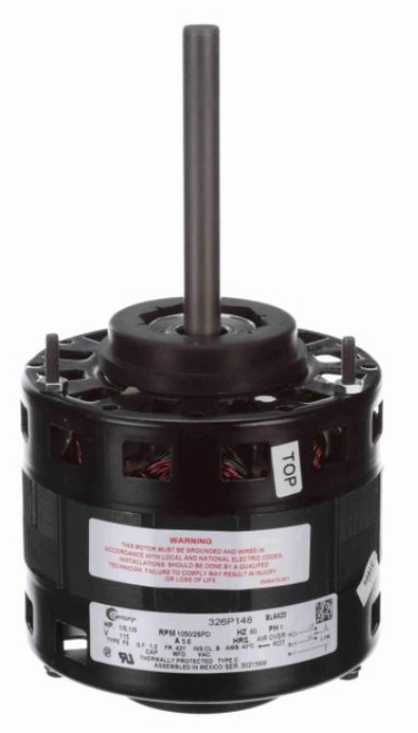 "BL6420 Century 1/6 hp 1050 RPM 2-Speed CW 5"" 115V Direct Drive Furnace Motor"