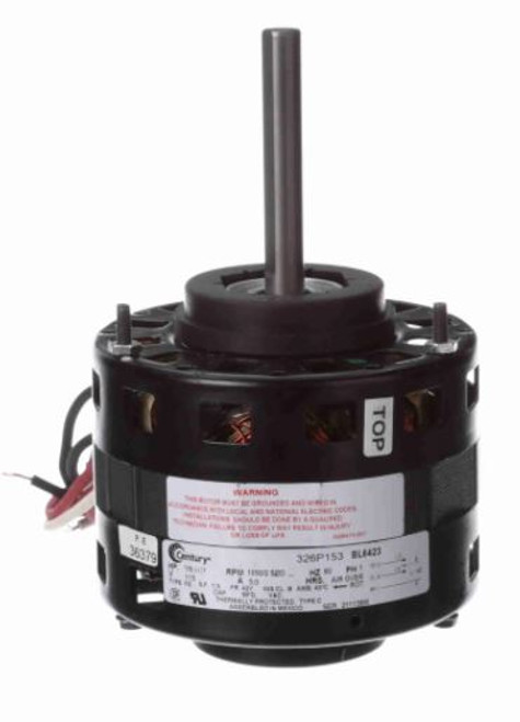 "BL6423 Century 1/8 hp 1050 RPM CW 5"" Diameter 115V (Coleman) Electric Motor"