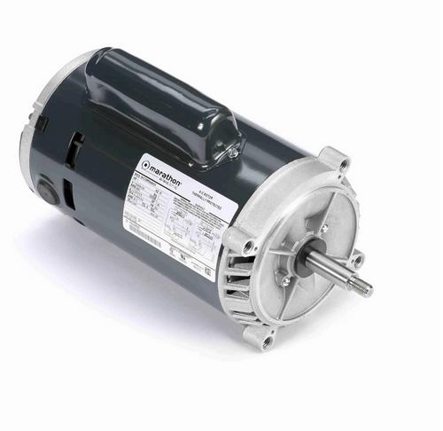 C335 Marathon 1 hp Basic Jet Pump Motor 3600 RPM 115/208-230V ODP 56J Frame (no base)