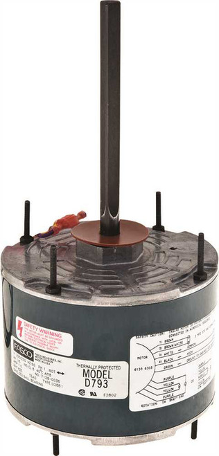 "1/8 hp 825 RPM 5.6"" Diameter 208-230V Fasco # D793"