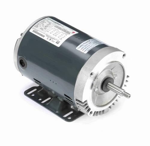 J053 Marathon 3 hp 3-Phase Jet Pump Motor 3600 RPM 208-230/460V ODP 56J Frame (rigid base)
