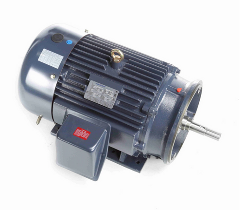 GT3123A 15 hp Marathon 1200 RPM 3 phase 284JM Frame (Rigid Base) TEFC 230/460V Close Coupled Pump Motor