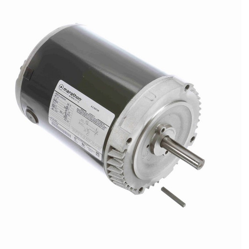 H207 Marathon 1/8 hp 900 RPM 56CZ Frame 115V (No Base) ODP Exhaust Blower Motor