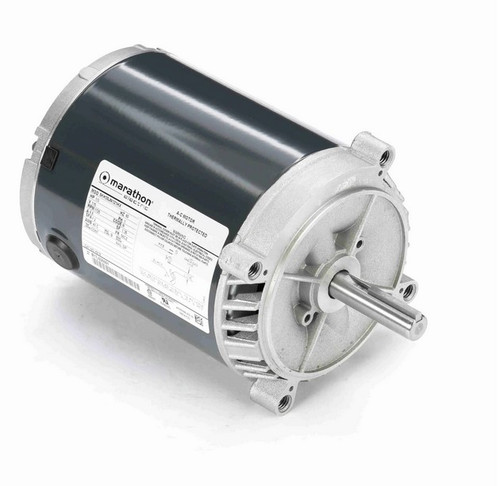 H218 Marathon 1/3 hp 1800 RPM 56CZ Frame 115V (No Base) ODP Exhaust Blower Motor