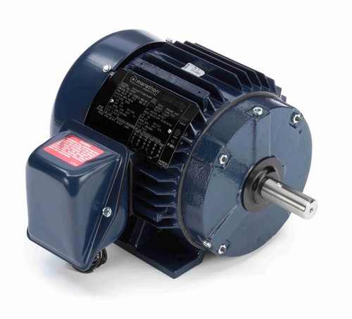 H457 Marathon 3/4 hp 208-230/460V 1200 RPM 3-Phase 143T Frame TEFC (rigid base) Motor