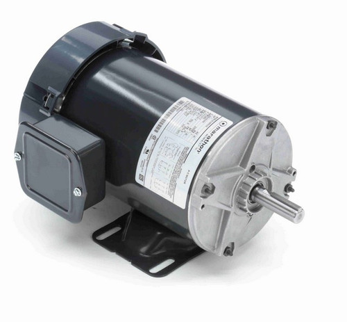 K163 Marathon 1 hp 208-230/460V 3600 RPM 3-Phase 56 Frame TEFC (rigid base) Motor