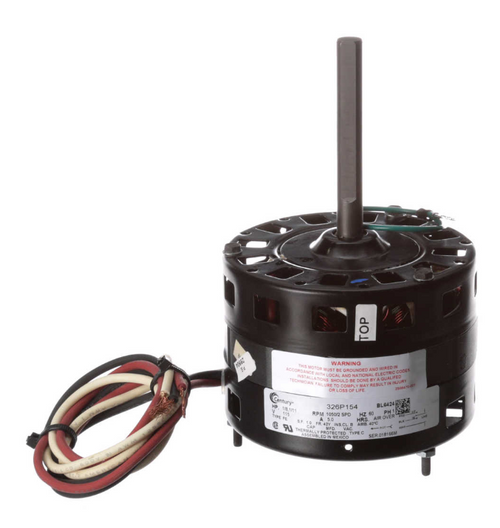 "Century BL6424 Motor | 1/8 hp 1050 RPM 2-Speed CW 5"" Diameter 115 Volts"
