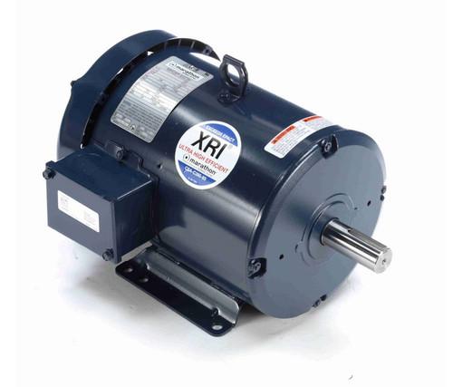 E2163 Marathon 5 hp 200V 1800 RPM 3-Phase 184T Frame TEFC (rigid base) Motor