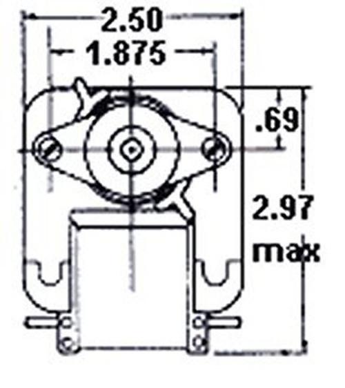 Fasco C-Frame Wall Heater Fan Motor .57 amps 1100 RPM 120V