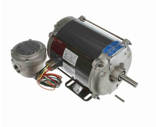 G639A Marathon 1/4 hp 1800 RPM 115/208-230V Explosion Proof 56 Frame EPNV (rigid base) Motor