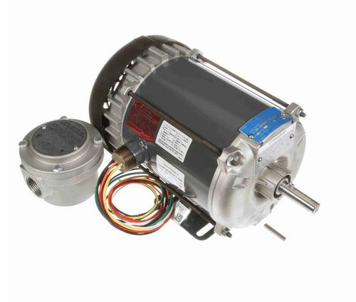 G651A Marathon 1/3 hp 1800 RPM 115/208-230V Explosion Proof 56 Frame EPFC (rigid base) Motor