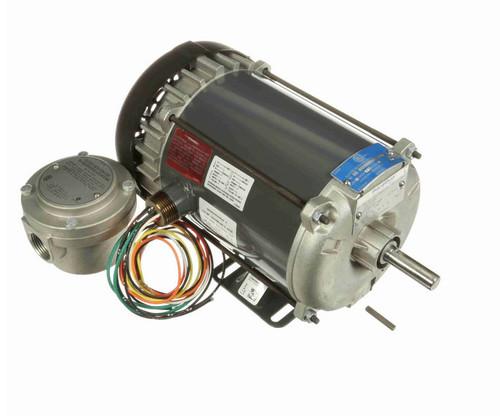 G654A Marathon 1/2 hp 1800 RPM 115/208-230V Explosion Proof 56 Frame EPFC (rigid base) Motor
