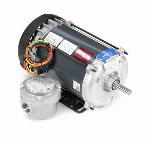 C1807 Marathon 1/2 hp 1500 RPM 110/220V Explosion Proof 56 Frame EPFC (rigid base) Motor