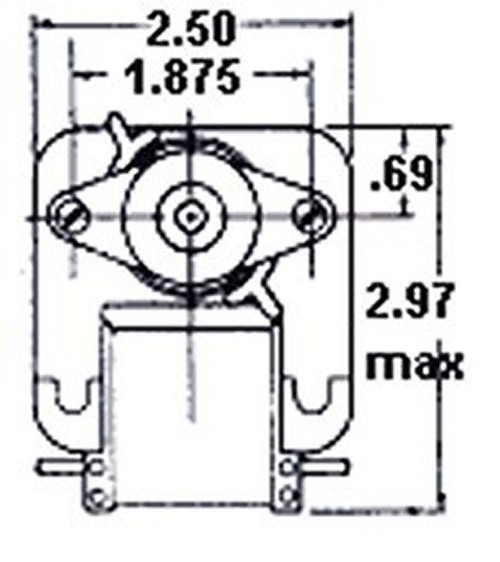 Fasco C-Frame Vent Fan Motor .82 amps 3000 RPM 115V # K111