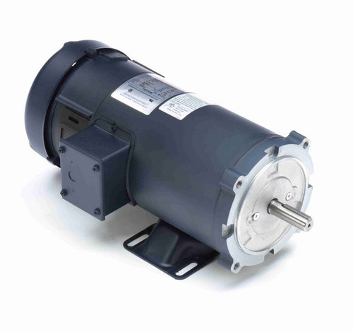 Z613 Marathon 1 hp 180 V DC SCR 1750 RPM Perm. Magnet C-Face 56C Frame TEFC (rigid base)